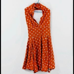 ✨4/20✨Vintage Open Back Orange Dress